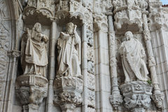 Statue of prophets and saints. Incredibile detail of the Jerominos Monastery portal in Belem, near Lisbon Stock Photos