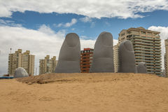 Statue in Punta del Este Royalty Free Stock Images
