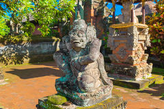 Statue in Pura Taman Ayun - hindu temple near Mengwi, Bali, Indo Royalty Free Stock Photography