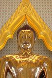 Statue of a pure gold Buddha Royalty Free Stock Photography