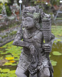 Statue at Puri Agung Semarapura Justice Court Bali. One of many statues surrounding the lily pond at Puri Agung Semarapura in Bali, Indonesia stock photography