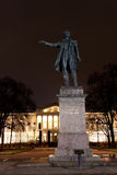 Statue of A. Pushkin in Arts Square, Russia Royalty Free Stock Photography