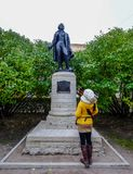 Statue of Pushkin in Saint Petersburg stock image