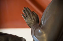 Statue  put the palms in Buddhism  salute Royalty Free Stock Photos