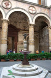 Statue Putto with Dolphin in Palazzo Vecchio, Firenze, Italy Stock Image