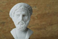 Statue of Pythagoras,ancient Greek mathematician and geometer. Royalty Free Stock Photos