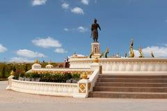 Statue Quai Fa Ngum in Vientiane Stock Images