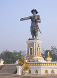 Statue Quai Fa Ngum in Vientiane Stock Photos