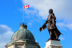 Statue in Quebec City Stock Photo