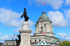 Statue in Quebec City Stock Image
