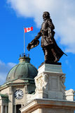 Statue in Quebec City Royalty Free Stock Photography