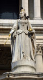Statue of Queen Anne outside St. Paul's Cathedral, London. Royalty Free Stock Images