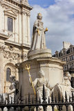 Statue of Queen Anne at St Paul Cathedral in London Royalty Free Stock Photography