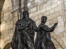 Statue of queen Catherine de Medicis in  basilica of saint-denis Royalty Free Stock Photo