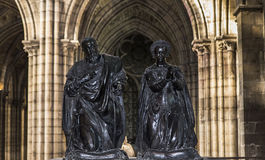 Statue of queen Catherine de Medicis in  basilica of saint-denis Royalty Free Stock Photography