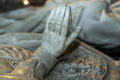 Statue of queen Catherine de Medicis in  basilica of saint-denis Royalty Free Stock Images