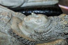 Statue of queen Catherine de Medicis in  basilica of saint-denis Stock Photography