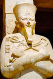 Statue of Queen Hatshepsut as Osiris. Luxor, Egypt Stock Photos