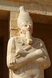 Statue of the Queen Hatshepsut in temple Stock Photography