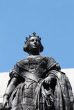 Statue of the queen isabel ii of spain, detail Royalty Free Stock Photos