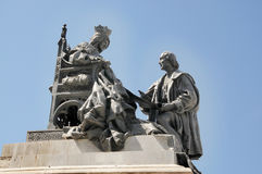 Statue of Queen Isabella and Christopher Columbus Royalty Free Stock Image