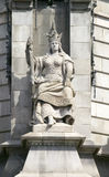 Statue of Queen Isabella, a supporter of Christopher Columbus, Barcelona, Spain Royalty Free Stock Photo