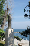Statue of Queen Marie of Romania. Watching over the Black Sea Stock Image