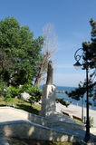Statue of Queen Marie of Romania. Watching over the Black Sea Stock Photo
