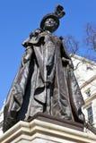 Statue of Queen Mother Elizabeth in London Stock Photos