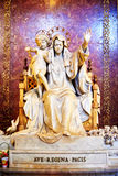 Statue of Queen of Peace, the Virgin Mary, inchurch of St. Mary Major, Santa Maria Maggiore in Rome Royalty Free Stock Images