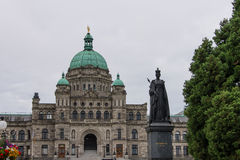 Statue of Queen Victoria, British Columbia Parliament Building, Canada Stock Photos