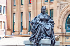 Statue of Queen Victoria. Bronze statue of Queen Victoria at Queen Victoria Building, Town Hall, Sydney, Australia stock photography
