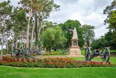 A statue of Queen Victoria in Kings Park and Botanical Gardens i Stock Images