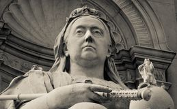 Queen Victoria statue outside Buckingham Palace Royalty Free Stock Photos