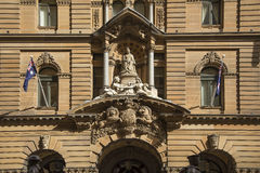 Statue of queen victoria at town hall of sydney australia Stock Photos