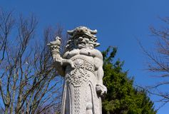Statue of Radegast, Radhost hill / Pustevny, Beskids, Czech republic / Czechia stock photography