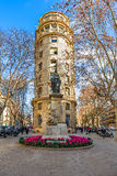 Statue of Rafael Casanova in Barcelona, Spain. Stock Photos