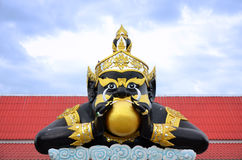 Statue of Rahu and India god Royalty Free Stock Images