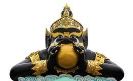 Statue Rahu und Indien-des Gottes mit getrennt. lizenzfreie stockbilder