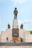 Statue of Rama VI at the entrance to Lumpini Park in Bangkok, Th Royalty Free Stock Photo
