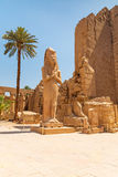 Statue of Ramesses II in Karnak temple Stock Photos