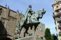 Statue Ramon Berenguers III, Zählung von Barcelona Stockfotos