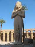 Statue of Ramses 2 in Karnak temple Stock Image