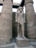 Statue of Ramses The Great. Ramses statue at the Luxor Temple, Egypt Royalty Free Stock Photo