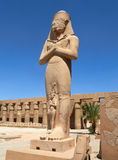 Statue of Ramses II. In Karnak temple in Luxor Stock Photo