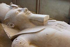 The Statue of Ramses II found at Memphis Royalty Free Stock Photo