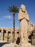 Statue of Ramses II and Nefertari Royalty Free Stock Photo