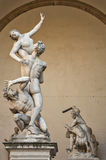 Statue of Ratto Delle Sabine, Florence, Italy Stock Photo