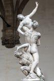 Statue of Ratto delle Sabine, Loggia de' Lanzi, Piazza della Sig Stock Photography