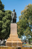 Statue of Rear Admiral Sir John Franklin, Hobart Australia. Hobart, Australia - March 19. 2017: Tasmania. Bronze statue of Rear Admiral Sir John Franklin shows royalty free stock photo
